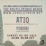 The Polyclinique Redux with Atiq ( Mindtrick Records)  & Yorobi 02 August 2015
