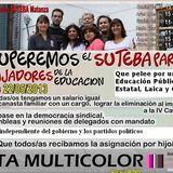 Informe sobre el triunfo de la lista multicolor en SUTEBA