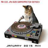 MR CEE JAY B2B GRANDMASTER DENSEY - JANUARY 2015 - FREESTYLE MIX