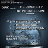 Dirk - Host Mix - The Diversity Of Progressive 06 (19th February 2014)