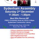 Sydenham Assembly held on 2nd December 2017 at Sydenham Community Library
