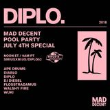 Diplo - Mad Decent Pool Party SiriusXM (04.07.2018)