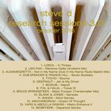 Steve D - Research Sessions 3.0 (October 2016)