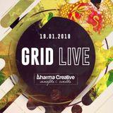 GRID LIVE @ Dharma Creative // 19.01.2018.