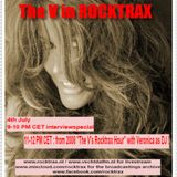 """Veronica Freeman """"The V"""" Interviewspecial in Rocktrax 4th July 2015"""