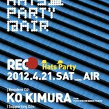 KO KIMURA live in the mix at his residency [REC] @ AIR Tokyo in April 2012