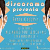 DISCORAMA Beach Grooves con ALEJANDRO PONT LEZICA (Ar) & IVAN MENGONI (It)