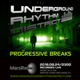 Progressive Breaks mix, MarsRadio, WPRK 91.5 FM, Orlando, FL, Underground Rhythm District, 24SEP16