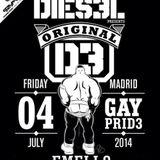 Live @Dies3l party gaypride Madrid 2014