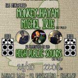 4 anos de Paz e Dub - Monkeyjhayam + Michel Irie + High Public Sounds - 24/10/2014