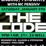 Undrig - Live @ The Code (Portland Maine)- Jan 6th 2013