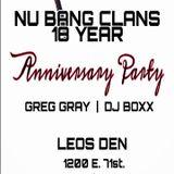 Greg Gray Live at Nu Bang Clan 18-yr Anniversary Party