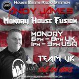 Monday House Fusion (Andy James) - House Beats Radio Station - 19-11-18