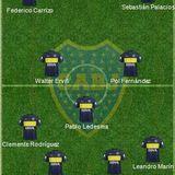 Once inicial con los ex jugadores de Boca que están en el fútbol local