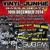 Vinyl Junkie - The Bass 'n' Beats Show - Sub.FM - 10/12/2014 - ft. Jinx Artist Showcase