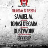 SAMUEL M. @ Macarena Club, Barcelona (27/02/2014)