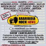 # 131 Arariboia Rock News - 05.04.2017 - Billy Idol e Cancelamentos de shows