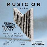 Marco Carola - Live @ MUSIC ON Closing 2015 (Amnesia, Ibiza) - 25-SEP-2015