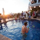 pool sunset party deep,sexy house