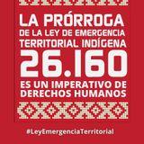 Prórroga a la Ley de emergencia territorial indígena - Gavino Zambrano, Asoc. indígena (18-09-17)