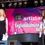 Cecilia Roth en el programa de Germán Paoloski sobre la Plaza de los Artistas