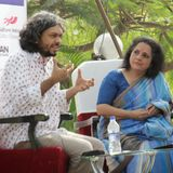 Anand Gandhi in converstion with Uma Magal at HLF 2014