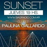 "Paulina Gallaro / Dj set ""Sunset"" 08-04-2016 / BAG Radio Station"