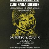 Hanna Wolkenstrasse @ Kosmonautentanz, Sa 17.11.12 - 01.00 - 03.30