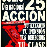 Convocatoria día nacional  de acción 25 de julio  Radio mi gente