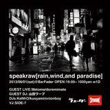 2013.06.01 speakraw DJmix