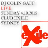 LIVE IN SYDNEY - 4TH OCTOBER 2015 - CLUB EXILE