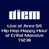 diem live at area 54 hip hop happy hour 7-12-18