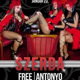 Dj Free & Antonyo - Live @ Moulin Rouge Budapest Wednesday Night 2013.01.23.