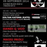 20140909 21h-22h(GMT+1) Kato Promo-factory exclusive Guest radio show w/Dandi & Ugo (Italo Business)