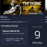 Gabriel Ben Presents Tektronic 085 (May 2016) with guest Jonno Brien