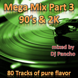 Mega-Mix Part 3 90's & 2K Hip Hop R'N'B Party Mix over 4 Hours 90BPM to 130 BPM