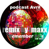 podcast avril 2014 remember 80's 90's and more remix imaxx