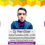 Dj ManStar Wacky Radio Show: Episode 01