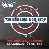 Jeudi 15 août 2013 - 12h - défi des 72h00 de radio non-Stop