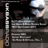 Ep. 063 - Artist Spotlight on Ed Rush & Optical, Vol. 1