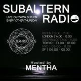 Mentha - Subaltern Radio 31/03/2016 on SUB.FM