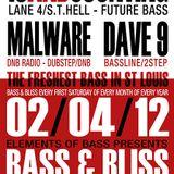 Malware w/ MC Precision & Orb1x - Live @ Bass & Bliss 02/04/2012