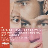 Local Time Takeover : Piu Piu Invite Shlomo, AWB & O. Xander - 24 février 2016