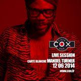 COX Live session Carte Blanche @ Mandel Turner 12 06 2014