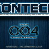 Podcast 004 mixed by Vontech ( Exclusive Tech House Session 2013 )