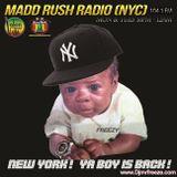 DJ FREEZE LIVE @MADD RUSH RADIO 104.1 FM (NYC) [90'S WALK THRU]