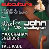 John O'Callaghan - Live @ The Gallery, Ministry of Sound (London, UK) - 26.10.2012