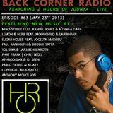 BACK CORNER RADIO: Episode #63 (May 23rd 2013)