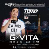 DJ TOMO at UnitedG x VITA Tokyo Pride Beats 2019 Rev-up Party Live in Hong Kong 23/Feb/2019