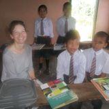Nuala Collins volunteering in schools in India